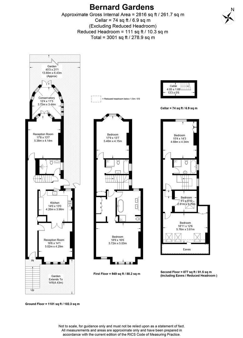 Floorplan for Bernard Gardens, Wimbledon